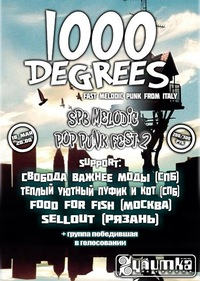 18/05 SPB POP-PUNK FEST + 1000 DEGREES (Italy)